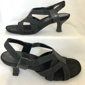 easy street Comfort Stretch Heeled Sandals